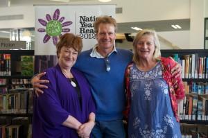 Authors Hazel Edwards, William McInnes and Alison Lester at Bialik College