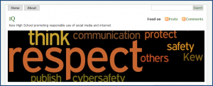 Kew High School's cybersafety/digital citizenship blog. Printed here with permission