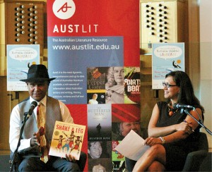 Boori Monty Pryor with Dr Anita Heiss at BlackWords Symposium 2012.